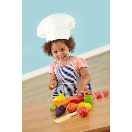 Role Play Wooden Slicing Fruit and Veg Set  large