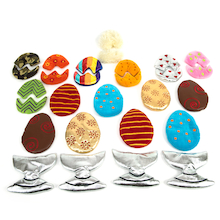 Sort and Match Fabric Egg Collection  medium