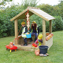 Wooden Outdoor Sandpit with Roof  medium