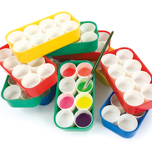 Paint Tray 8 Pot 10pk  medium