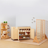 Natural Wooden Folding Room Dividers  small