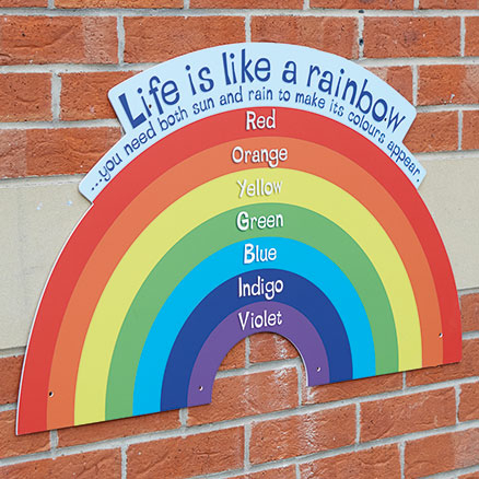 Outdoor Rainbow Sign  large
