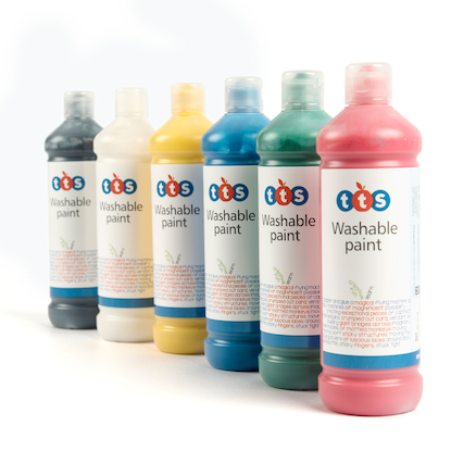 TTS Washable Ready Mixed Paint Assorted 12pk  large