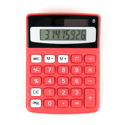 Big Button Coloured Calculators  large