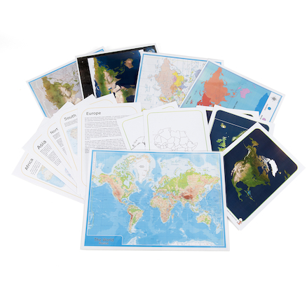 Continents and Oceans Maps and Activities Pack  large