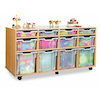 Mobile Tray Storage Unit With 12 Mixed Size Trays  small