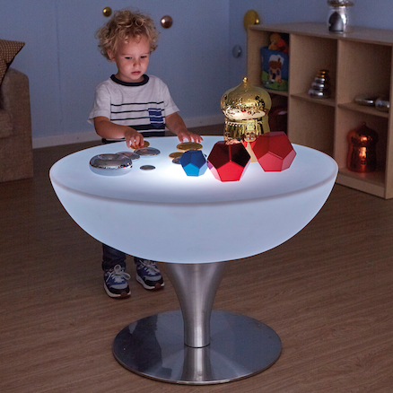 Round Light Up Colour Changing Glow Table  large