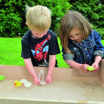 Outdoor Wooden Sand and Water Tray  large