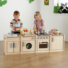 Toddler Height Wooden Kitchen Unit Multibuy  medium