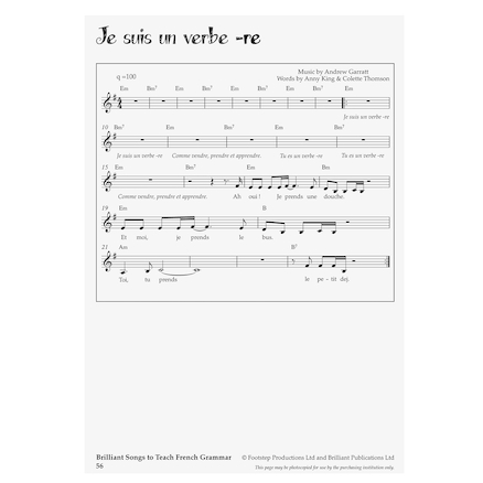 Brilliant Songs to Teach French Grammar  large