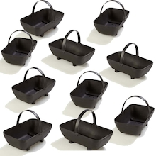 Outdoor Plastic Trugs with Handle 9pk  medium