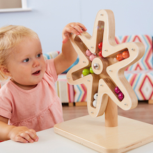 Wooden Rotating Sensory Spirals  medium