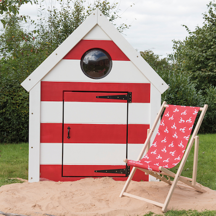 Outdoor Wooden Seaside Village Beach Huts  large