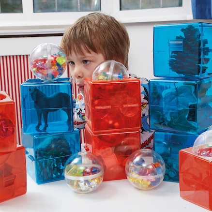 Acrylic Open Up Construction Cubes and Spheres  large