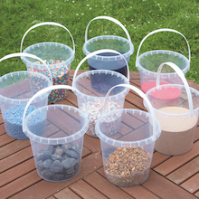 Clear Plastic Water Buckets 8pk  medium