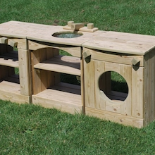 Outdoor Wooden Role Play Kitchen Station  medium