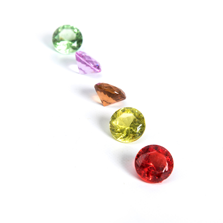 Sparkling Diamond Counters Assorted Colours 100pk  large