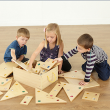 Giant Wooden Jewel 2D Floor Shapes 26pcs  medium