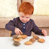 Assorted Wooden Pebble Collection 9pcs  small