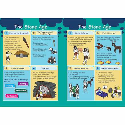 KS3 The Stone Age Revision Activity Cards 10pk  large