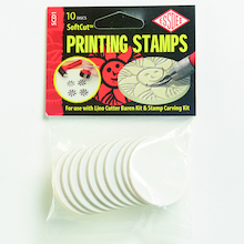 Lino Printing Stamps 10pk  medium