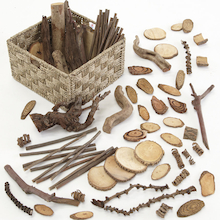 Wooden Natural Materials Selection Basket 3kg  medium