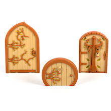 Woodland Mini Fairy Door Collection 3pcs  medium