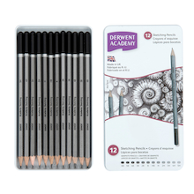 Derwent Academy Sketching Pencils 12pk  medium