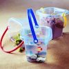 Clear Buckets with Handles 3pk  small