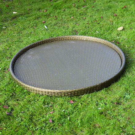 Giant Plastic Rattan Active World Tray  large
