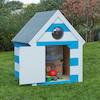 Outdoor Wooden Seaside Village Beach Huts  small