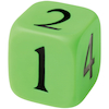 Large Rubber Numbered Dice 10 x 10cm  small