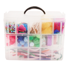 3 Tier Plastic Craft Caddy  medium