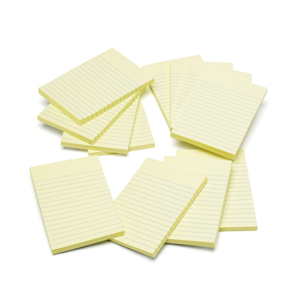 Lined Sticky Note Pads Large  large