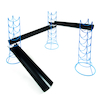 Outdoor Jumbo Guttering Stands 4pk  small