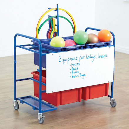 Whiteboard and Storage Trolley  large
