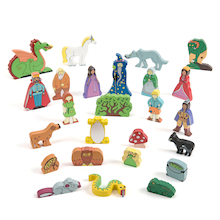 Fantasy World Wooden Characters  medium