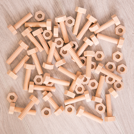 Wooden Nuts \x26 Bolts  large