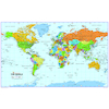 World Map Reversible Political and Physical A0  small
