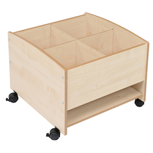 Low Level Mobile Kinderbox with Shelf In Maple  medium