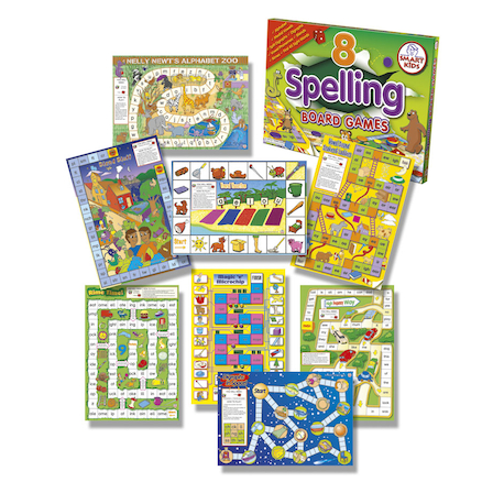 8 Spelling Board Games  large