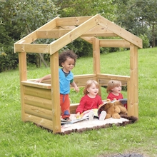 Outdoor Wooden Baby Den  medium