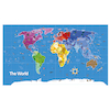 Continents and Countries Map Signboards  small