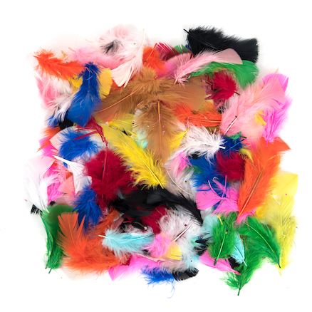 Brightly Coloured Feathers Marabu and Plume 28g  large