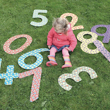 Giant Outdoor Patterned Numbers 1-10  medium