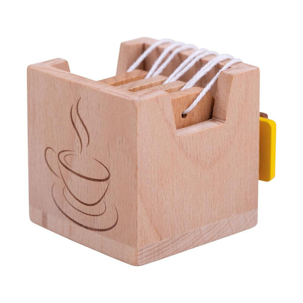 Wooden Tea Bag Set 4pcs  large
