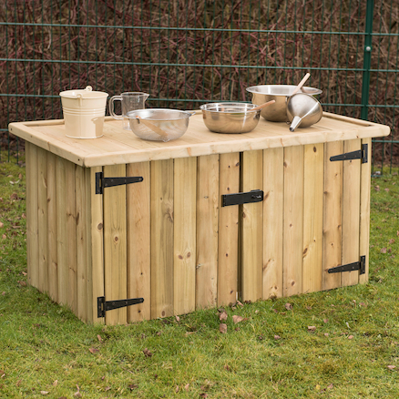 Outdoor Double Sided Storage Table  large