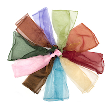 Glittery Dance Scarves 10pk  medium