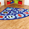 Under the Sea Corner Floor Mat W200 x L200cm  small