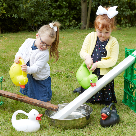 Plastic Duck Watering Cans 4pk  large